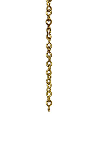 RCH Hardware CH-20-AD Decorative Acid Dipped Solid Brass Chain for Hanging, Lighting - Light Unwelded Wire (1 Foot)