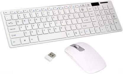 PIRAM ENTERPRISE Ultra Thin Fashion 2.4G Wireless Keyboard & Mouse Combo Kit Wireless Multi-Device Keyboard(Multi Color)