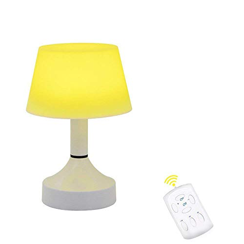 Portable LED Lamp Cute Space Energy Saving Desk Lamp Table USB Rechargeable Baby Nursery Night Light Father's Day Gift for Kids Bedside with Remote Timer Dimmable Warm White Light by