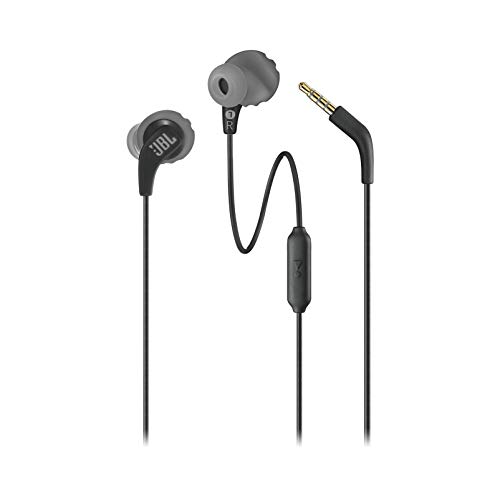 JBL Endurance RUN Sweatproof Sports In-Ear Headphones with One-Button Remote and Microphone (Black)