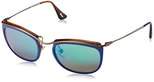 Persol Sunglasses, Blue/Matte - Persol Matte Tortoise
