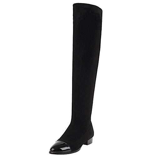 Coolcept Zipper Bottes Femmes 1 Noir Confort Longue su Plat HwxUHrq