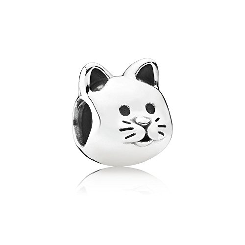 Pandora Curious Cat Silver Charm ()
