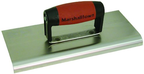 MARSHALLTOWN The Premier Line 162SSD 6-Inch by 6-Inch Stainless Steel Edger with DuraSoft Handle