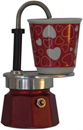 Bialetti: Juego de mini tazas de porcelana con forma de corazón, 1 taza, color rojo y 1 de Bialetti: Amazon.es: Hogar
