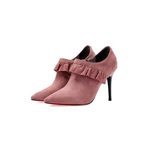Mattes Mode pour Chaussures Pointues Hauts Confort Portable Pink ZPEDY Femmes Talons THFxRfwq