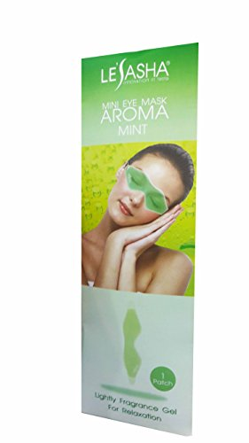 2 Packs of Mini Eye Mask Aroma Mint. Lightly Fragrance Gel For Relaxation from Lesasha, Innovation In Trend. Reusable & Comfortable. (1 patch/ pack)