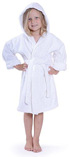 Indulge Girls 100% Cotton Terry Hooded Bathrobe Made In Turkey ab7a0b3d2