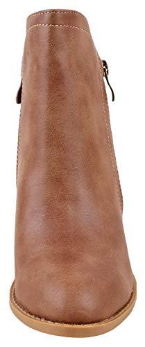 2 Top Booties Women's Ankle Moda Khaki z88Yqax