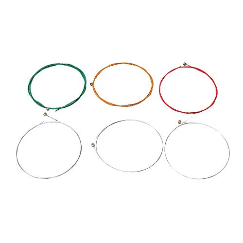 BQLZR Steel Core Coating Copper Alloy Electric Guitar Strings Music Steel Wire Electric Bass Strings Conventional Musical Instrument Parts #1-#6 Pack of 6 E30