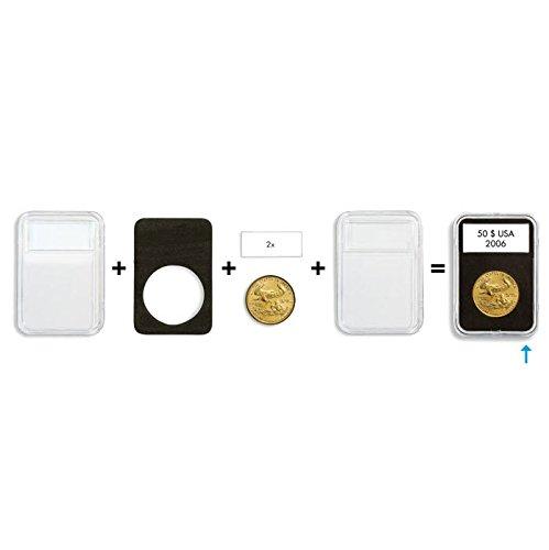 (10) Lighthouse Quickslab 32mm Coin Capsule Re-closable Slab for 1oz Gold Eagle Kangaroo Krugerrand