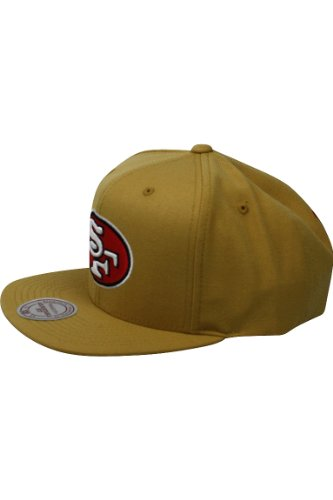 Mitchell & Ness Men's San Francisco 49ers Wool Snapback One Size Gold