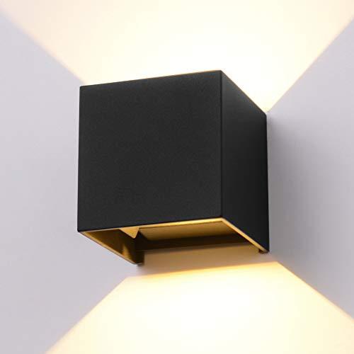 LED Aluminum Waterproof Wall Lamp,12W 100-277V 3000K Adjustable Outdoor Wall Light Warm Light 3.94