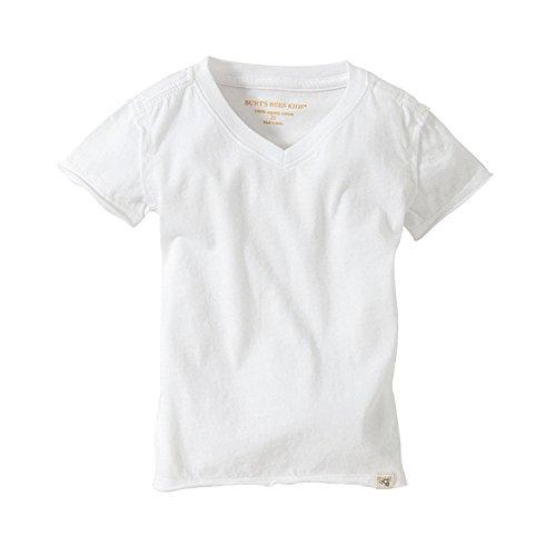 Burt's Bees Baby Baby Boys' T-Shirt, Short Sleeve V-Neck and Crewneck Tees, 100% Organic Cotton, Cloud, 12 Months
