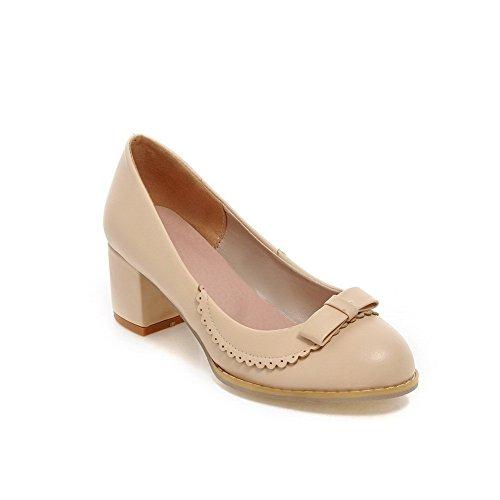 Embossed Leather Heels - 5