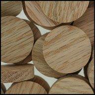WIDGETCO 1'' Oak Wood Plugs, Face Grain by WIDGETCO