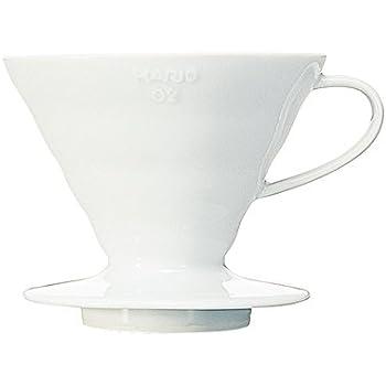 Hario V60 Ceramic Coffee Dripper (Size 02, White)