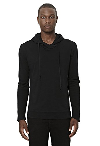 UNCOMMON THRDS Mens Thermal Cuff Hoodie Black - Medium by UNCOMMON THRDS