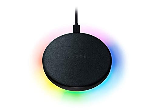 Razer Charging Pad Chroma 10W Fast Wireless Charger: Fast Wireless Charging - Powered by Razer Chroma RGB - Soft-Touch Rubber Top