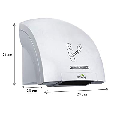DOLPHY Plastic Automatic Hand Dryer (White, Standard) 8