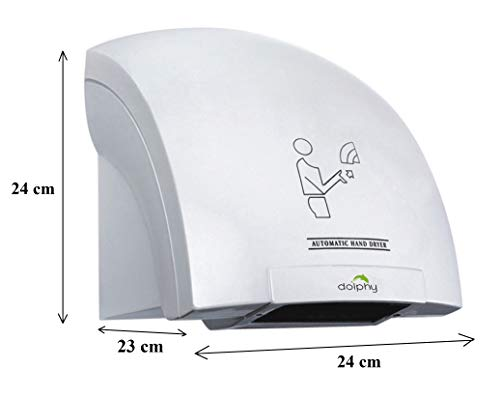 DOLPHY Plastic Automatic Hand Dryer (White, Standard) 3
