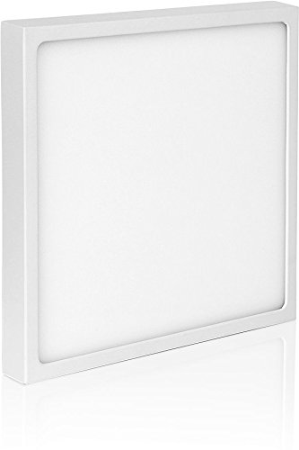 UltraSlim LED 18 W quadrato – Montaggio Panel 230 V – 24 mm – piatto in alluminio pressofuso – 1500lm – 190 X 190 X 23.5 mm – tagesweiss (4000 K) [Classe di efficienza energetica A+] HAVA