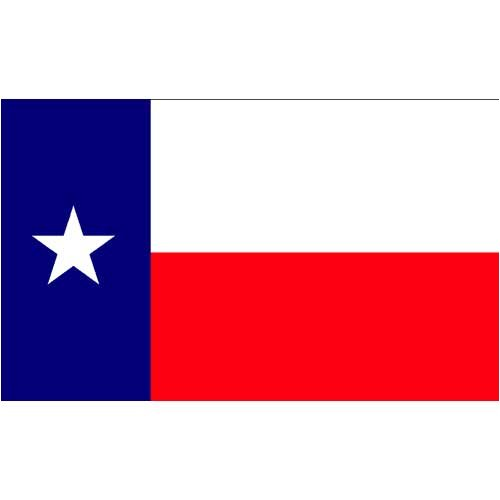 (Valley Forge, Texas State Flag, Nylon, 3'x5', 100% Made in USA, Canvas Header, Heavy-Duty Brass Grommets)