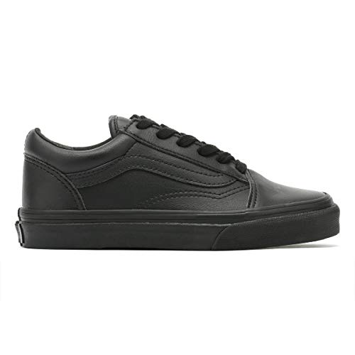 Skool Kids Vans Trainers Black Monochrome Old wRBxYqYC