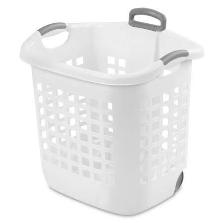 Sterilite 12106006 1.25ブッシェル ウルトラヒップホールド ランドリーバスケット 6パック 貝殻 ドライフトウッドアクセント付き ホワイト B07HDYZ9KV White Wheeled (4-pack)