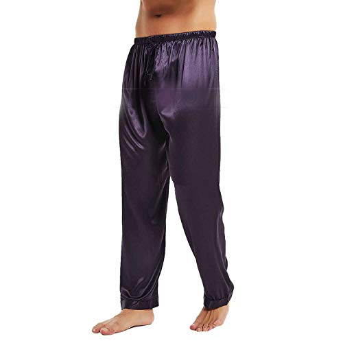 Satén Pantalones Dormir Salón Para Hombre De Comradesn Seda Gray Pijama Pantalón Pijamas ftqvcg