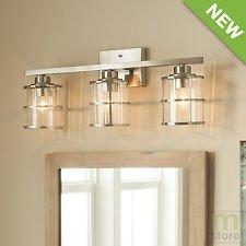 allen + roth 3-Light Kenross Brushed Nickel Bathroom Vanity Light by allen + roth (Image #5)