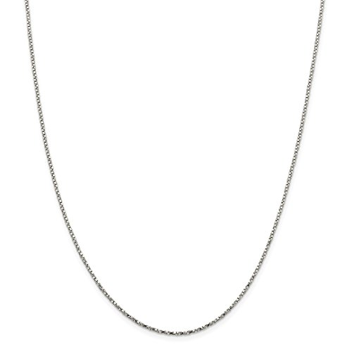 925 Sterling Silver 1.35mm Twisted Link Box Chain Necklace 18 Inch Pendant Charm Fine Jewelry Gifts For Women For Her