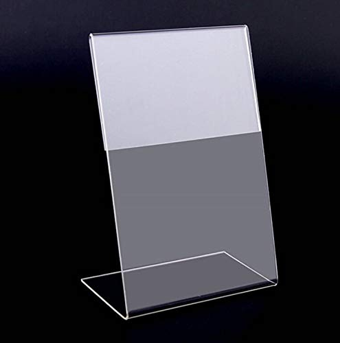 Badge Holder & Accessories|New 10pcs/lot Clear 6x9cm L Shape Acrylic Table Sign Price Tag Label Display Paper Promotion Card Holder Stand|by ()