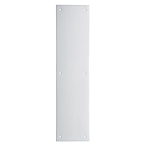 Ives Residential 820032d312 Stainless Steel 3'' X 12'' Push Plate Satin Stainless Steel Finish
