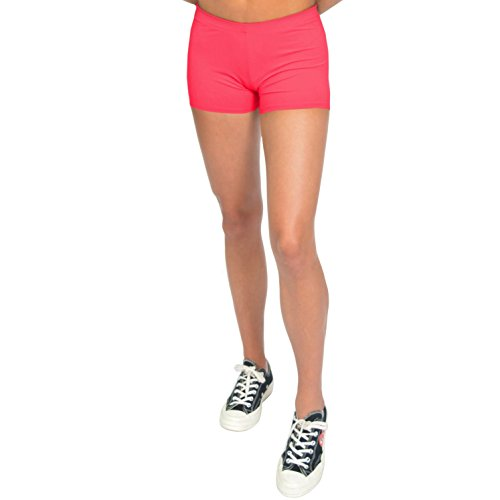 Stretch is Comfort Women's NYLON SPANDEX Stretch Booty Shorts Coral 2X