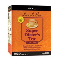 Apricot Super Dieters (Natrol (incl Laci Le Beau Teas) Laci Le Beau Super Dieters Tea, Natural Apricot 60 Bags (Pack of 3))