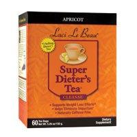 Super Apricot Dieters (Natrol (incl Laci Le Beau Teas) Laci Le Beau Super Dieters Tea, Natural Apricot 60 Bags (Pack of 3))