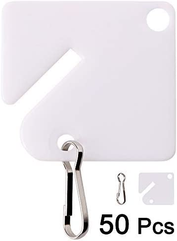 Prime-Line MP4269 Key Steel Hook Plastic Tags Pack of 100 100 Piece White