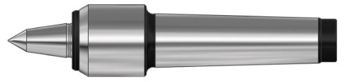 Röhm 362083 Type 600-20 Slim Tool Steel Revolving Tailstock Center with Small Casing Diameter and Extended Live Centre, Morse Taper 5, Size 10, 30mm Point Diameter, 60 Degrees Tip Angle by Röhm