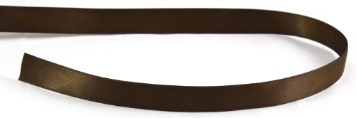 Kel-Toy Double Face Satin Ribbon, 5/8-Inch by 25-Yard, Chocolate Brown