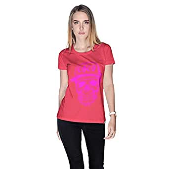 Creo Coco Skullt-Shirt For Women - L, Pink