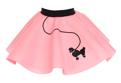 Hip Hop 50s Shop Toddler Poodle Skirt Light Pink (50s Pink Poodle Girls Costume)