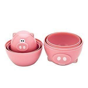 Piggy Wiggy Oink Oink 6 Pc Measuring Cups Set