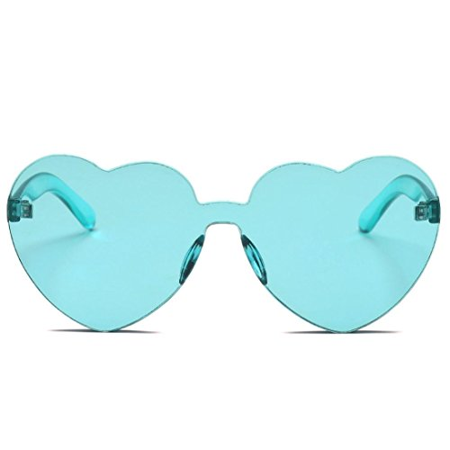 SUNGLASSES, Forthery WOMEN FASHION RETRO CLASSIC HEART-SHAPED POLARIZED SUN GLASSES - Rimless For On Sunglasses Eyeglasses Clip