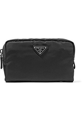 Prada Vela Square Nylon Beauty Bag Cosmetic Makeup Case - Black by Prada