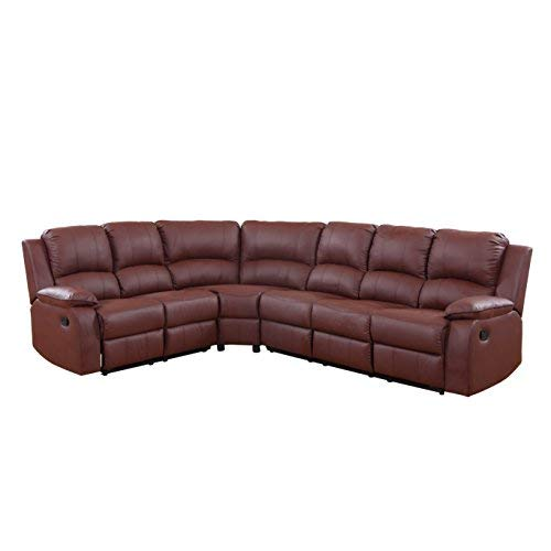 DIVANO ROMA FURNITURE Large Classic Sofa - Sectional - Traditional - Bonded Leather ()