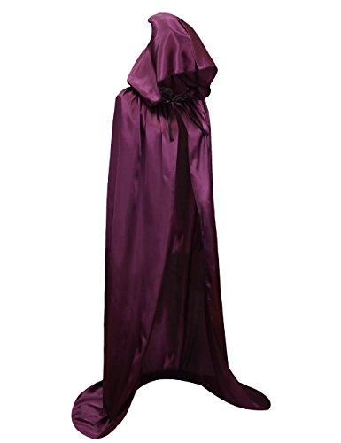 Hamour Unisex Halloween Cape Full Length Hooded Cloak Adult Costume,59