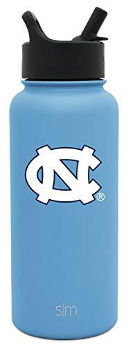 Simple Modern University Collegiate 32oz Summit Water Bottle with Straw Lid North Carolina