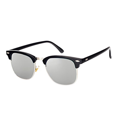 2baaa12421 Pro Acme Classic Semi Rimless Polarized Clubmaster Sunglasses with Metal  Rivets - Buy Online in Oman.
