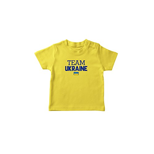 (nobrand Ukraine World Cup T-shirt Team Pride For Kids & Mens (Infant Yellow 2 T))